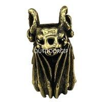 EDC Bead Faca Bat contas de cobre Asas Paracord DIY Pulseira Acessórios Pingente fivela, chaveiro pingente, Faca Lanyard, Pull Zipper