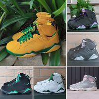 Tavşan 2.0 7 Erkek Basketbol Ayakkabı Siyah Beyaz Yeşil Gri Mor Oregon Ördekler Ray Allen 7 S Erkek Spor Tasarımcı Sneakers 7-11