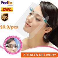 US-Aktien 3-6 Tage Liefersicherheit Face Shield Brille Wiederverwendbare Goggle Gesichtsschutz Visier Transparent Anti-Fog-Schicht Schutz der Augen fy8038