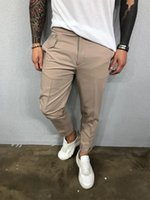 Mens Designer Cargo Pants Multi Pocket Casual Harem Joggers ...