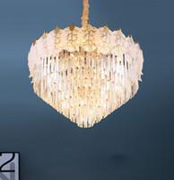 Işık restoran aydınlatma Ceilling Basit modern Avrupa tarzı led kristal avize salon kolye lamba ev yatak odası