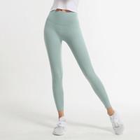 Leggings yogaworld mujeres niña yoga pantalones ninguna línea avergonzada desnuda ropa de desgaste entrenamiento correr alto cintura elástica negro