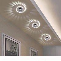 현대 LED 천장 조명 3W RGB 벽 SCONCE 아트 갤러리 장식 전면 발코니 램프 현관 조명 복도 조명기구