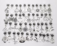 100 قطع مختلطة خمر قلادة حفرة كبيرة حبات صالح باندورا سحر أساور قلادة diy صنع المجوهرات