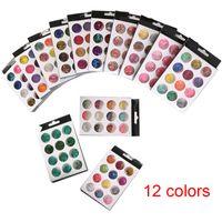 12 Kutuları / Set Tırnak Tozu Tozu Lazer Renkli Sevimli Meyve Kil Dilim Tırnak Glitter Düzensiz Tasarım Sequins Nail Art Dekorasyon Toptan