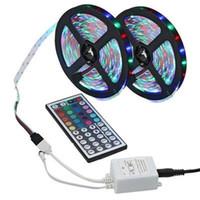 Nicht-wasserdichte RGB LED Streifen-Licht-3528 DC12V 60Leds / M Flexible Beleuchtung String Ribbon-Band-Lampen-Ausgangsdekoration-Lampe mit Fernbedienung