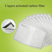 PM2.5 Filter-Auflage für Mask Anti Haze Maske Pad Austauschbare Filter-Scheibe 5layers Non-Woven-Aktivkohlefilter-Gesichtsmaske Dichtung dhl MMA3435