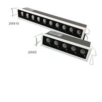 Innowacja Linear Sufit Wrzucone światło, Ściemnialny 2WX10 2WX15 Luminous Punkty Mała belka 15 30 Wysokie ograniczenie Niewidzialne Download Downlight