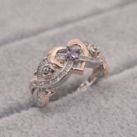 Modischer einzigartiger Female-Finger-Ring Unendlichkeit Color Ring Endless Love Symbol Versprechen Mode für Frauen Schmuck