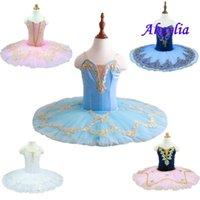 El pájaro azul Tutu Rendimiento Niño etapa de Custome tutú rosa Pancake White Girl lago de los cisnes de la bailarina del bebé del vestido del traje adulto