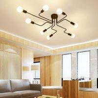 Vintage Industrial Ceiling Chandelier Light Steampunk Pendant Lamp Home Living Room Dining Room Bedroom Mount Fixture CA012