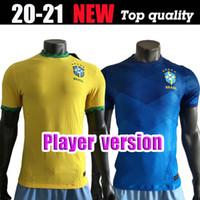 Lettore versione 2020 Neres Brasil Copa America Casa Away Jewel Soccer Jersey 20 21 # 11 P.Coutinho Camicia da calcio # 12 Uniformi di calcio Marcelo
