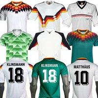 1990 1992 1992 1994 1998 1988 ألمانيا الرجعية Littbarski Ballack Soccer Jersey Klinsmann Matthias Home Shirt Kalkbrenner Jersey 1996 2004