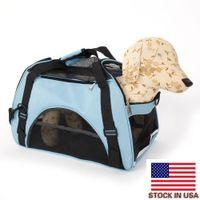 Borse portatili blu portatile da viaggio impermeabile pet borse da viaggio per cani e gatti con l Szies