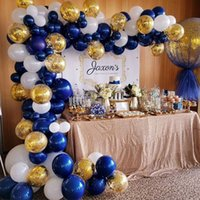 102pcs lot Navy Blue Gold Metallic Balloon Arch Kit Wedding ...