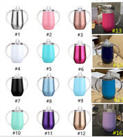 10oz stainless steel sippy cup with handle Insulated kids Su...