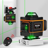 Nível Laser linha verde 16 linhas 4D Autonivelante verde nível laser de feixe 360 horizontal e nível Laser Poderosa Vertical Super