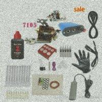 Pedal Beginner Kit completo Custom Tattoo Rotary Tattoo Machine Gun tinta preta Poder Agulhas aperto 15ml de tinta sZQE #