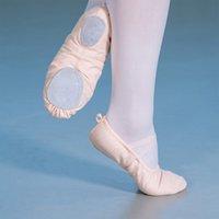 Балетная танцевальная обувь Шелковый танцующий Pointe с лентой для детей Дети Девушки Женщины Мягкие Плоские Обуви Удобные Фитнес-Тапочки