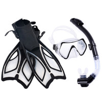 Máscaras de mergulho segura Máscara de mergulho profissional Silicone snorkel desgaste natação de natação definir preto m