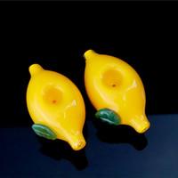 """jaune citron 4"""" pouces super petit TakeAlong verre convenience pendre huile pipe cuillère tabac à pipe de tabac"""