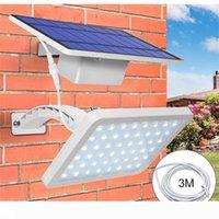Solarleuchte 48 LED Straßenwandleuchte Außen IP65 Integrieren Split Porch Lampe für Haustür Yard Porch Patio Pathway Garage