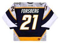 Peter Forsberg Nashville Predators 2006 Hombres Mujeres Mujeres Juveniles CCM Giro Atrás Jersey Hockey Portero-Cut Pedido de calidad superior Cualquier nombre