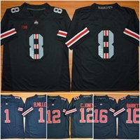 Usine OUTLET- Ohio State Buckeyes All Black Commémorative # 8 Jersey Blackout vitesse Eight Championship Edition Cousu College Football