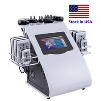 주식 미국 새로운 체중 감량 슬리밍 Lipolaser Cavitation 6에서 1 RF 진공 40K Cavitation 바디 조각 기계 슬리밍 기계