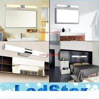 Nouvelle arrivée de haute qualité 8W 12W 16W 24W Tube LED bref acier inoxydable chaud mur blanc lumière blanche salle de bains Miroir Lampe 110-240V AC