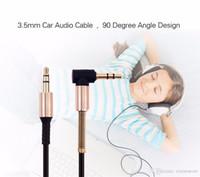 2020 الكابلات السمعية جديدة AUX كابل 3.5mm الذكور إلى كابل الصوت الذكور 90 درجة زاوية شقة للسيارة / PM4 PM3 / الحبل سماعة اوكس