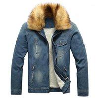 Jeansjacken Oberbekleidung neue Art und Weise Teenager Wintermäntel 20ss Herren Designer Jean-Jacken beiläufiges Fleece Thick