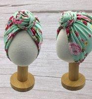 bebê Índia chapéu crianças arco flor recém-nascido Turban Nó Envoltório principal Crianças Meninos Meninas Índia Beanie Hat Cap LJJK2379