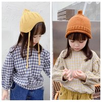 Newest INS Kids Little Girls Blouses Shirts Plaid Cotton Gir...