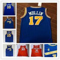 College Basketball Jersey # 17 Chris Mullin # 15 Latrell Sprewell 10 Tim Hardaway Retro University usa Jerseys STETEYS S-2XL