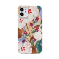 Art Retro Abstract Oil Painting Flowers Phone Case For iPhon...