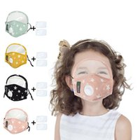 Kids Star Printed Masks 2 in 1 Full Face Face Shield with Breath Valve Children Outdoor Protective Masks with 2pcs Filter Pad CCA12396