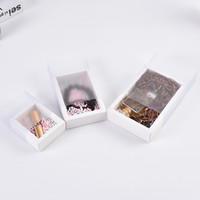 Solide Multi-Zweck Schmuck Organizer Kraft Paper Box Wrap PVC Schubladenkästen Seifenlagerungsbehälter Lippenstift Ohrring Halskette 1 3SZ D2