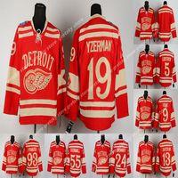 Winter-Klassiker Detroit Flügel rot RBK Trikots 8 Abdelkader 9 Howe 13 Datsyuk 19 Steve Yzerman 71 Dylan Larkin Kundenspezifisches Hockey Jersey