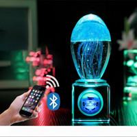 Musik Nachtlicht 3D-Quallen LED bunte Beleuchtung Tischlampe neues Kristallhandwerk USB Licht Atmosphäre Lampe