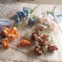 Fleurs décoratives Couronnes 6 Têtes 60cm Fleur artificielle Snow Petony Bunch Silk Faux décor pour la maison Mariage Table Matières Matières Plants RO