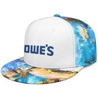 Lowe's improvement blue font logo Unisex Flat Brim Baseball Cap Cool Fashion Trucker Hats lowe's Coconut tree series Black side on white