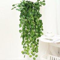 Artificial Ivy Folhagem Verde Folhas Falso Pendurado Emalação Flor Flor Vine Planta Rattan Partido De Casamento Jardim Decor Montado Montado DHD327