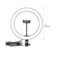 Photography 6 8 10 Inch Table LED Light Ring Lamp Youtube Video Live 3500-5500k Photo Studio Makeup Desk Selfie Ring Light