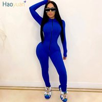 HAOYUAN Sexy Long Sleeve Rompers Womens Jumpsuit Tracksuits ...