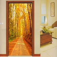 Гостиная дверь украшения обои Home Deco клей ПВХ наклейка 3D DIY стены искусства бумажная роспись росписью наклейки