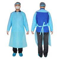 CPE Koruyucu Giysi Tek İzolasyon Önlük Giyim Anti Toz Açık Koruyucu Giysi Tek Trençkotlar RRA3330 Takımları