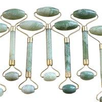 Tragbare Pratical Gesichtsmassage Roller natürliche Jade Anti-Falten Gesichts-Schlankheits-Former-Körper Fuß Entspannung Schönheit Werkzeug