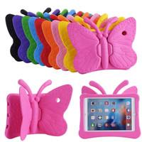 Bambini Butterfly Ipad Case Silicon Hybrid Schiuma Antiurto antiurto Antiurto Casi di gomma Eva Tote Supporto per iPad Mini 1/2/3 iPad PRO11 10.2 / 10.5 9.7