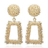 Trendy Vintage orecchini per le donne Oro Argento di colore geometrica Dichiarazione Orecchini ORECCHINI metallo orecchino dei monili del regalo di modo Hanging